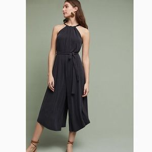 Anthropologie Wide Leg Halter Jumpsuit